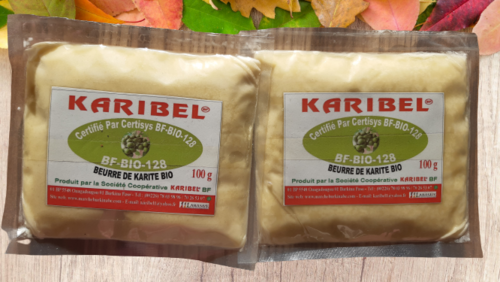 100g beurre de karité 100%-Bio du Burkina Faso. Excellente Qualite Made in Burkin